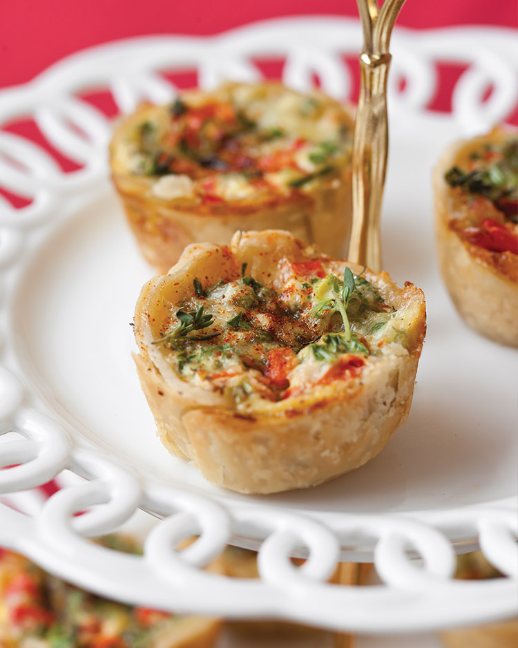 Enticing Holiday Appetizers Spinach and Fontina Mini Quiche