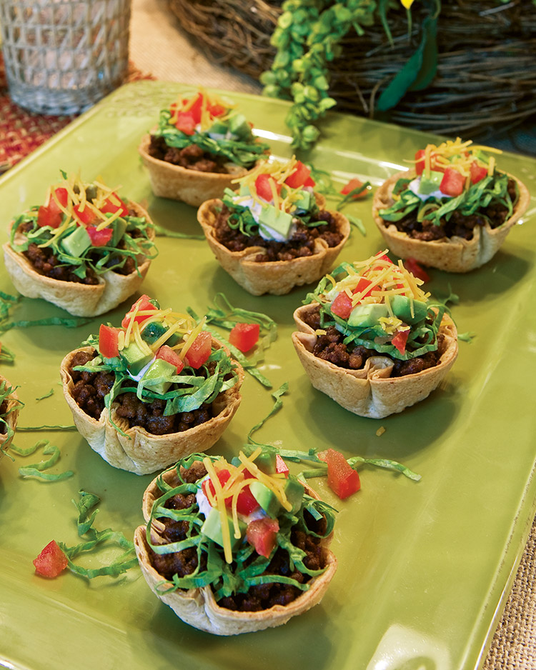 easy appetizers Mini Taco Salads