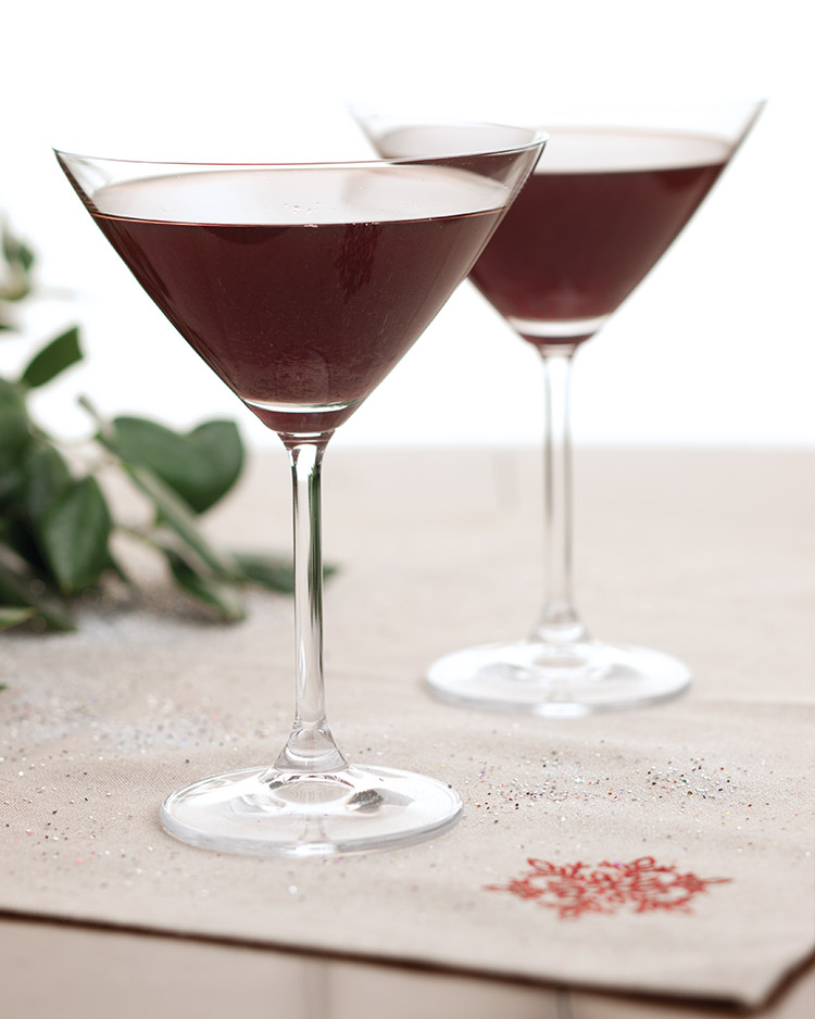 Seasonal Sippers Pomegranate-Ginger Martini