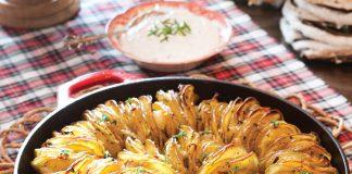 skillet hasselback potatoes