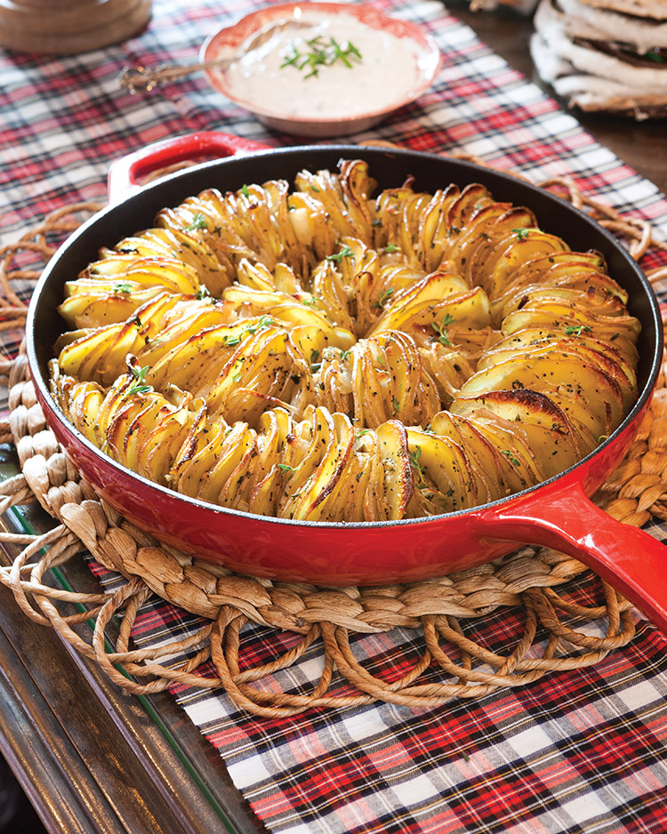skillet hasselback potatoes
