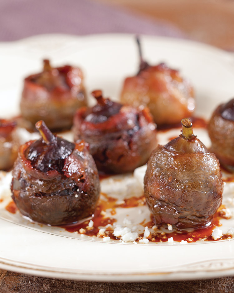 easy appetizers Bacon Wrapped Figs