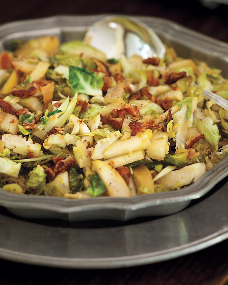 Brussels Sprouts with Bacon and Apple - Southern Lady Magazine