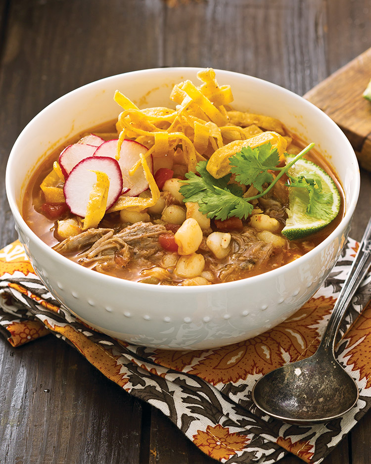 Pulled Pork Posole Winter Soup