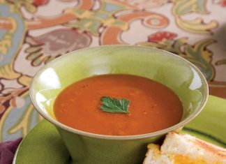 Roasted Tomato Soup and Ultimate Grilled Cheese;