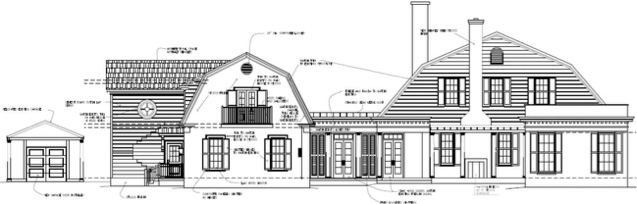 Renovation Diary: The House on Gates, Part 2- Elevation of Side Exterior of New House on Gates