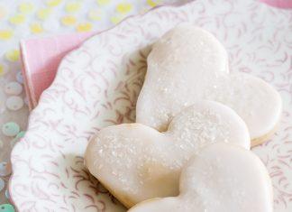 Glazed Sweetheart Cookies