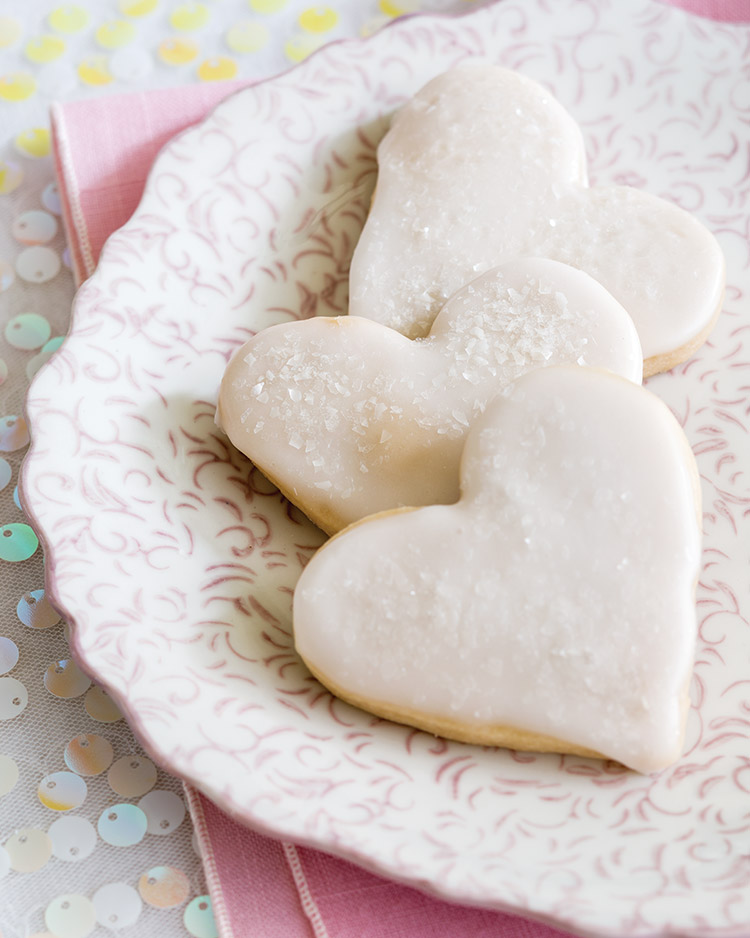 Glazed Sweetheart Cookies