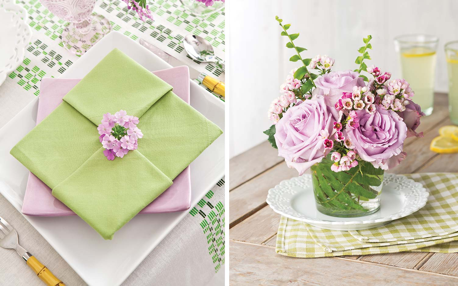 Distinctive Details: How-to-Create Beautiful Spring Napkins