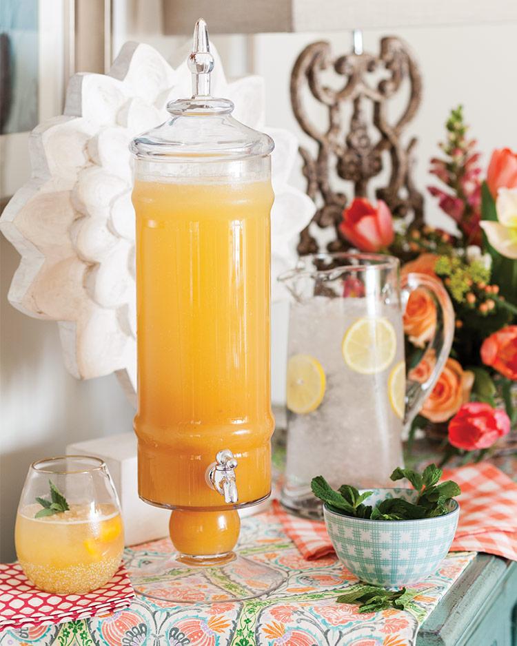 Sparkling Peach Lemonade