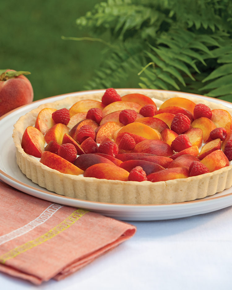 Summer Fruit and Goat Cheese Mousse Tart