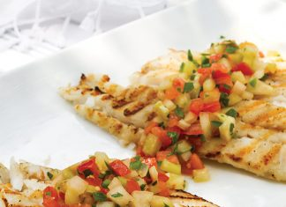 Grilled Fish with Tomato-Jalapeño Relish