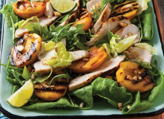 Grilled Peach and Chicken Salad