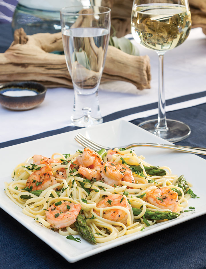 Lemon Shrimp with Asparagus and Pasta