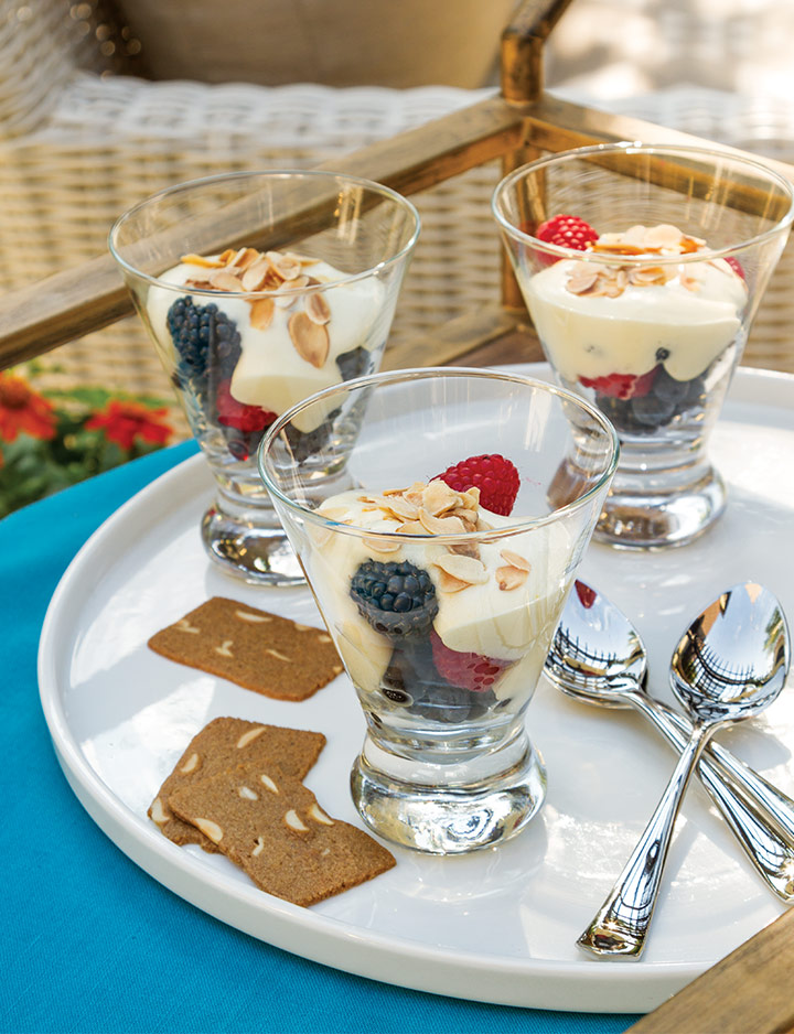 Zabaglione with Fresh Berries and Almond Cookies