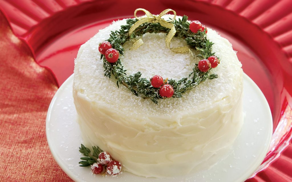 Mini Cranberry Lime Cakes with DIY Wreaths