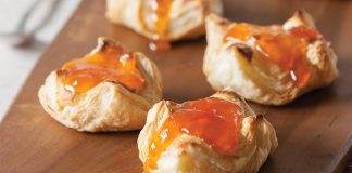 Puff Pastry Vanilla Cream Cheese Danish with Apricot