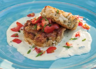 Herbed Crab Cakes with Sweet Corn Sauce
