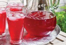 Sparkling Lemon-Hibiscus Tea Cooler