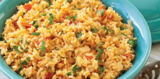 Tomato Garlic Rice Pilaf