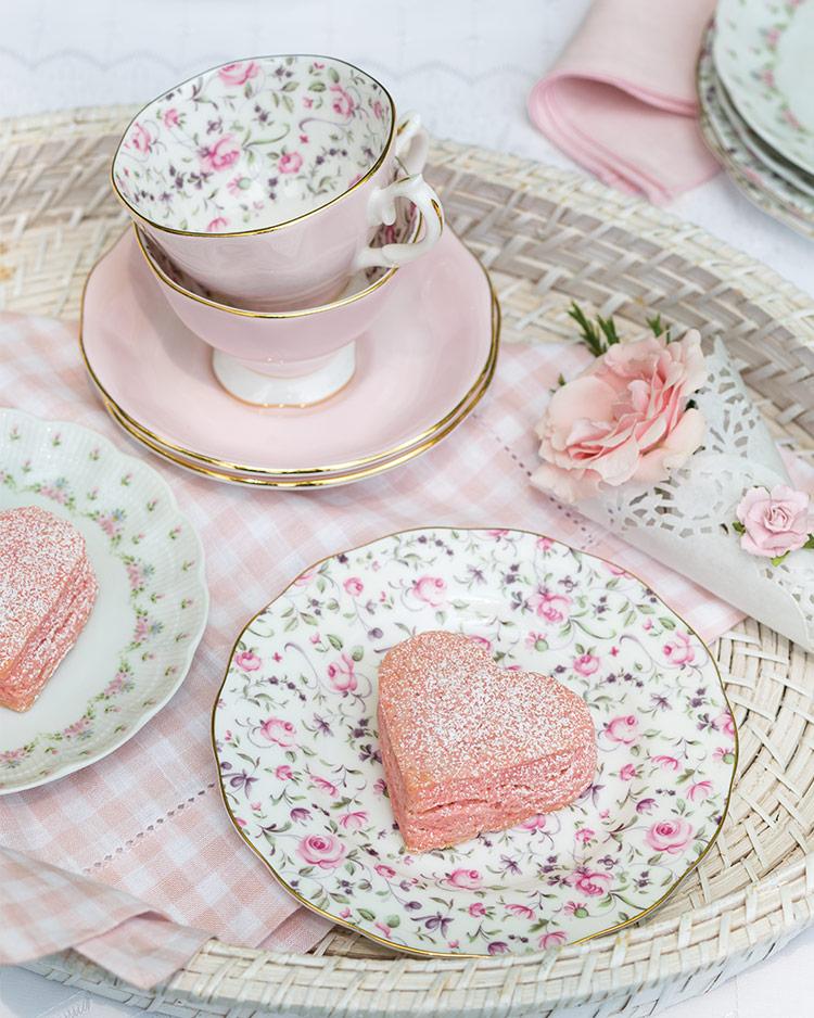 Pink Heart Scones
