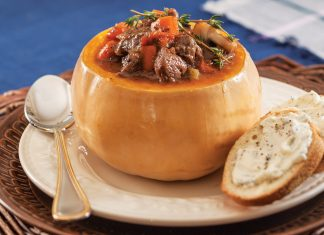 Beef Stew with Red Wine and Mushrooms