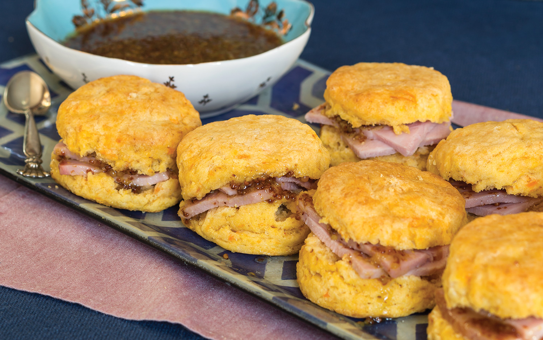 Ham-FilledSweet Potato Biscuits