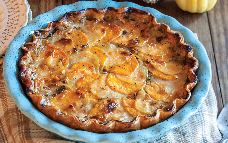 Mixed Mushroom and Grantineed Potato Pie