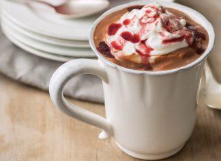 Dark Chocolate-Covered Cherry Hot Chocolate