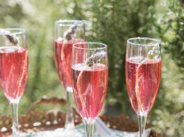 Lavender French 75 Champagne