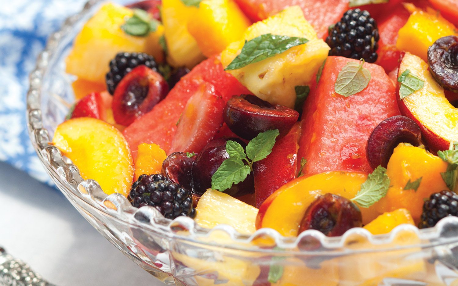 Mint-Lime Fruit Salad