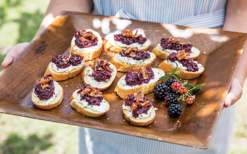 Blackberry-Sweet Onion Jam Crostini