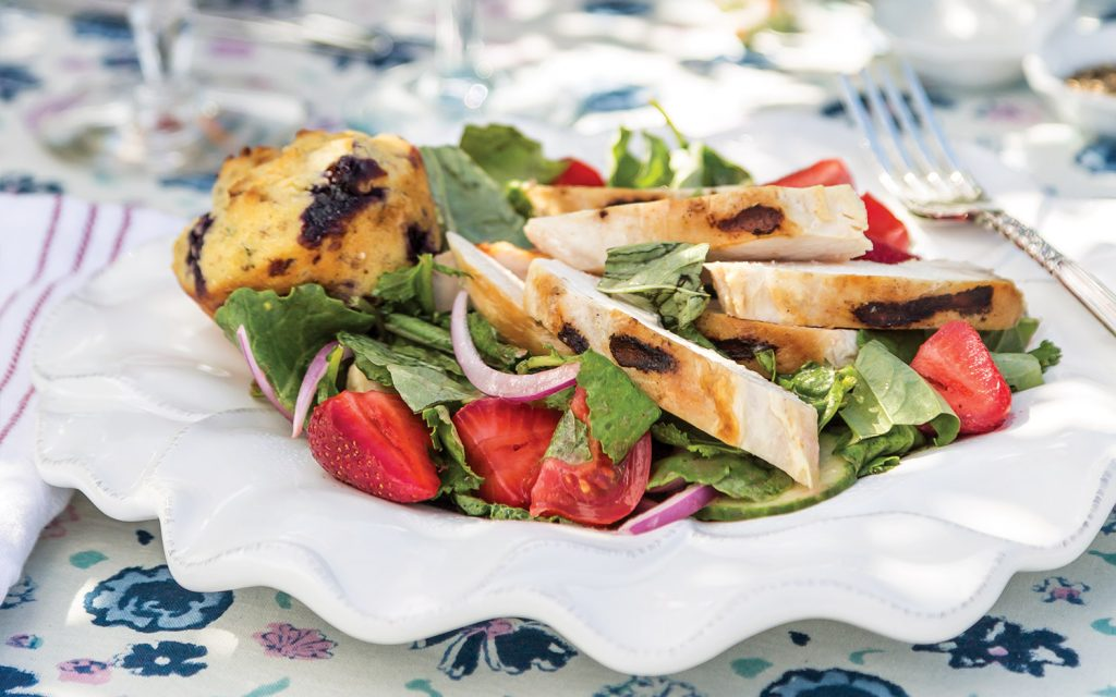 Grilled Chicken Salad with Strawberry Vinaigrette