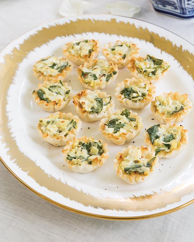 Spinach-Artichoke Phyllo Bites