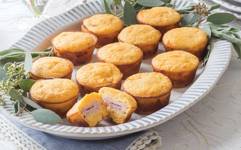 Corn Muffin Ham Sliders