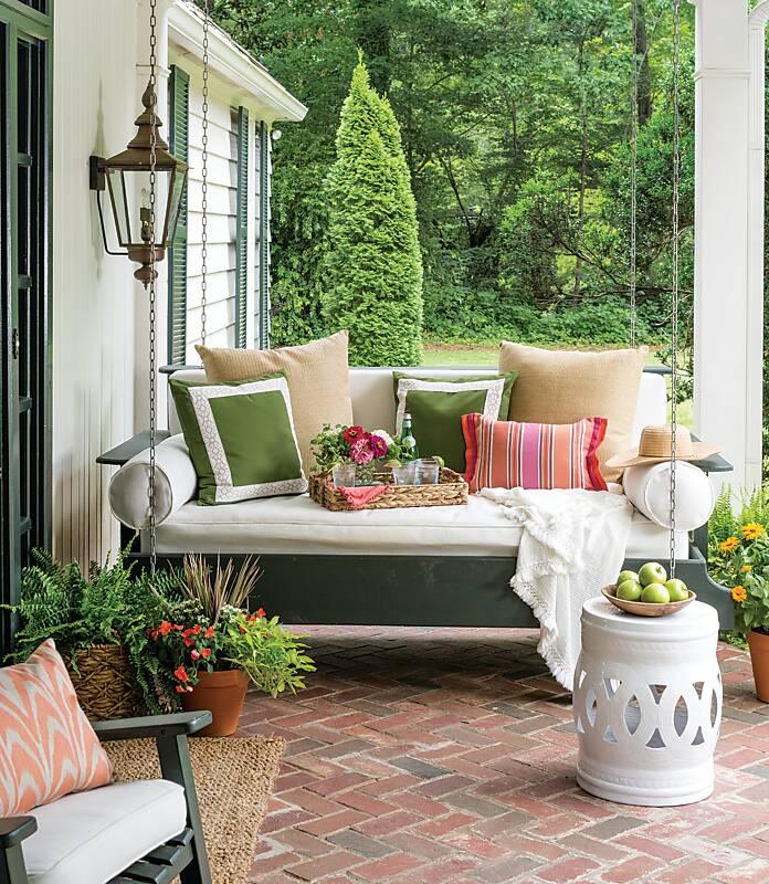 Sitting Pretty on the Porch